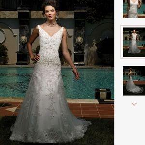 Casablanca Ivory Wedding Dress 1860 size 8